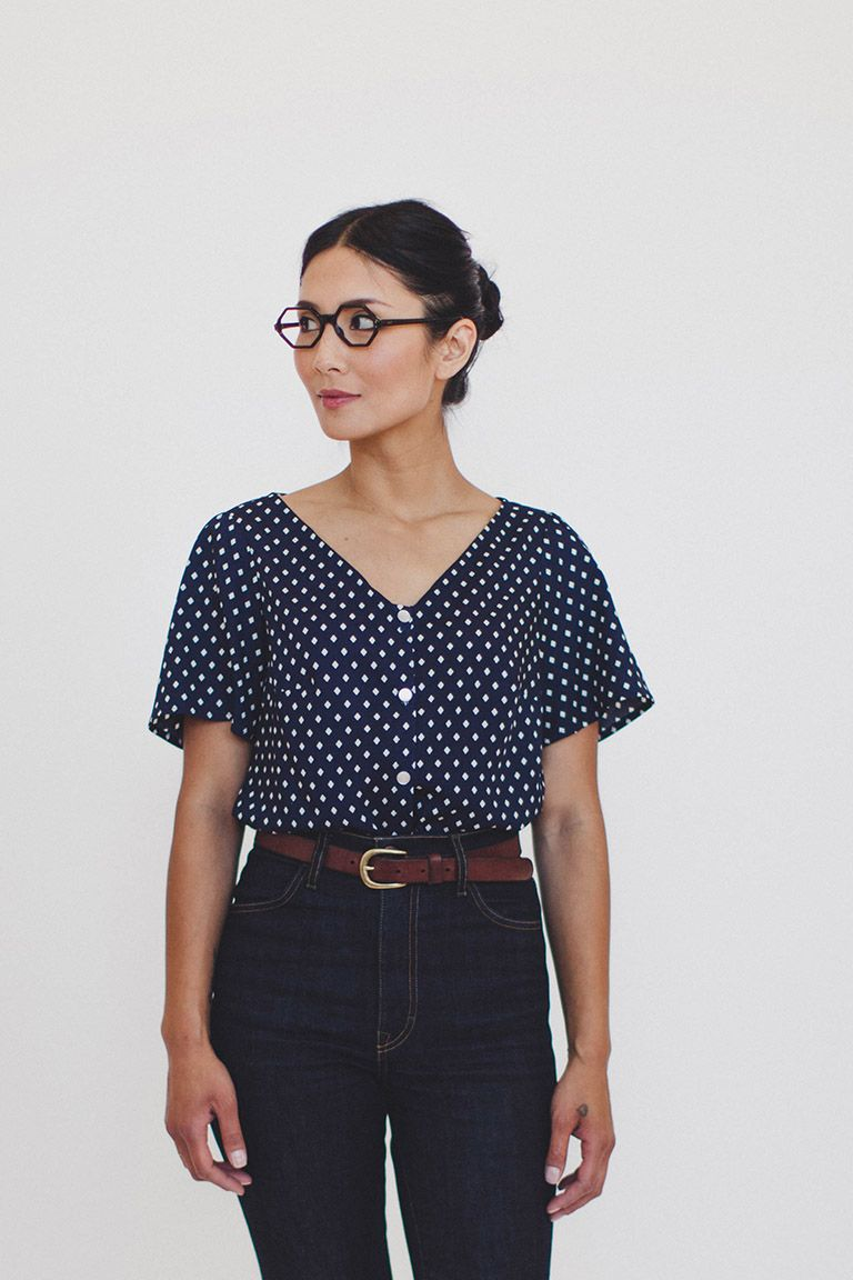Aster button blouse from @colettepatterns | SEW | Pinterest