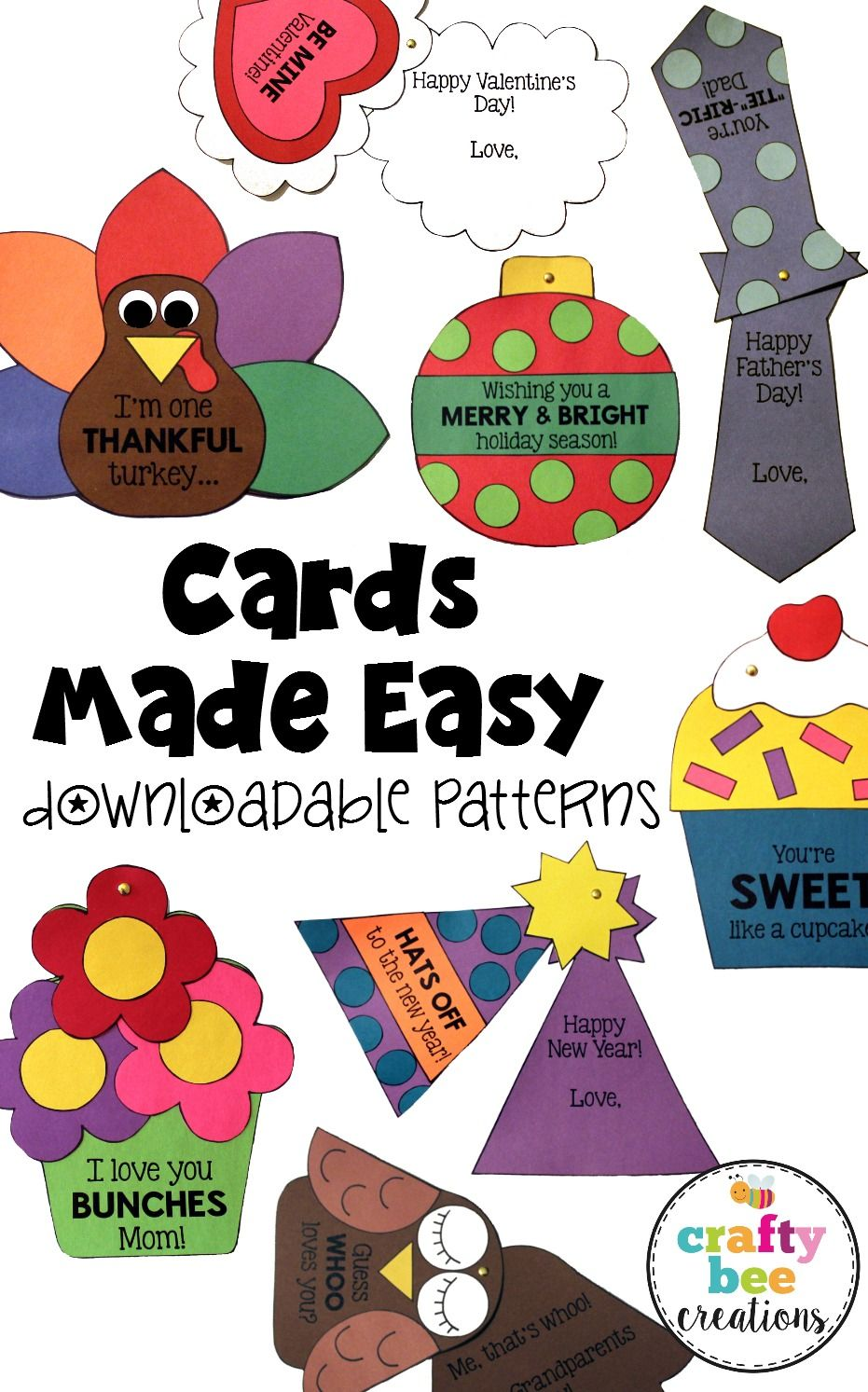 Holiday Cards Craft Bundle Crafty Bee Creations Pinterest Pre