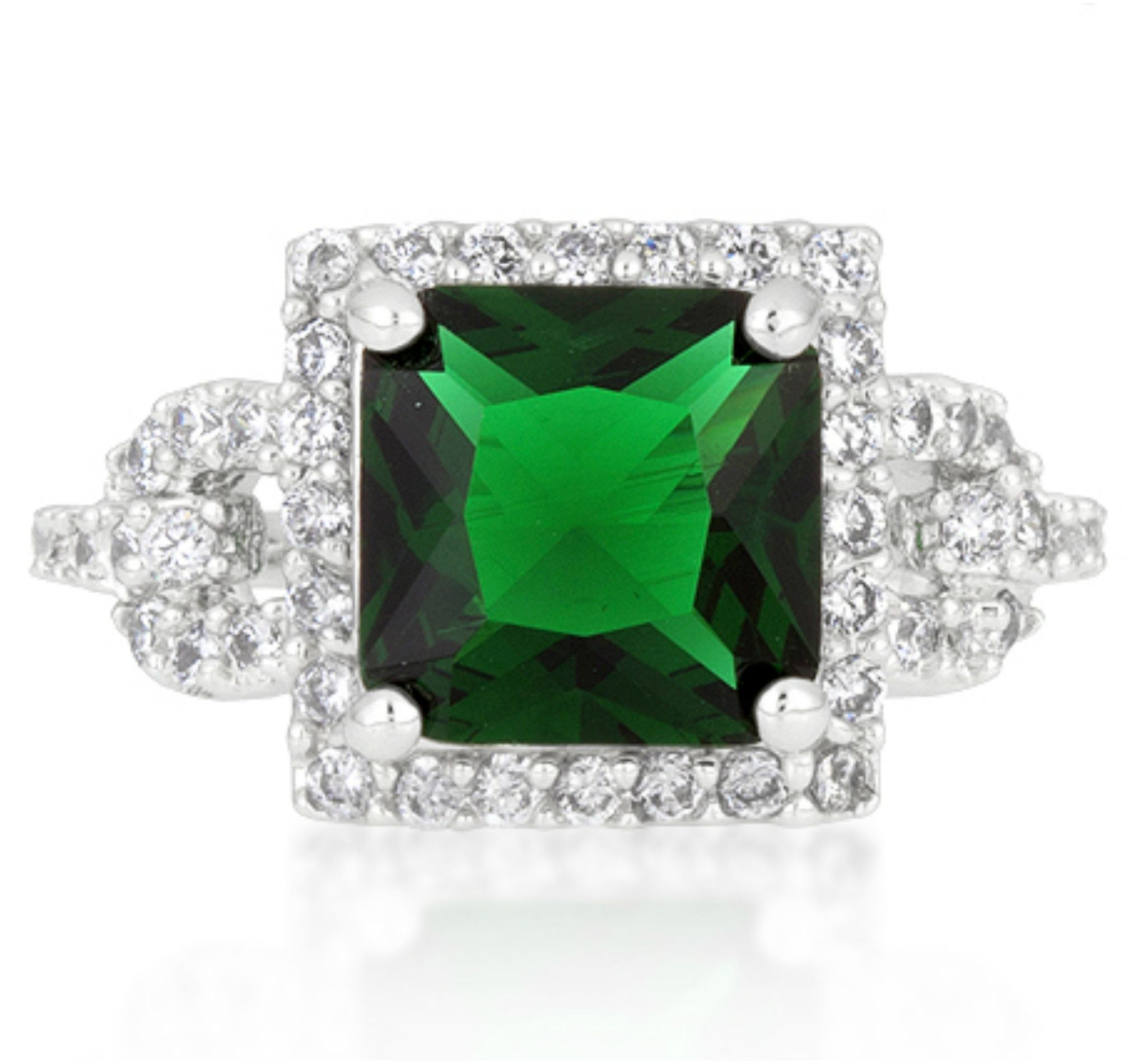 ring radiant cut band turned engagement diamond wedding emerald of with stone best