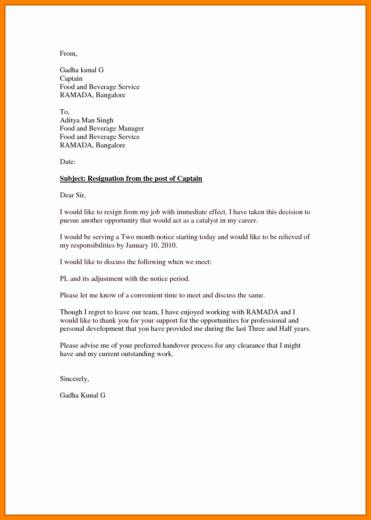 Letter Of Resignation Effective Immediately from i.pinimg.com
