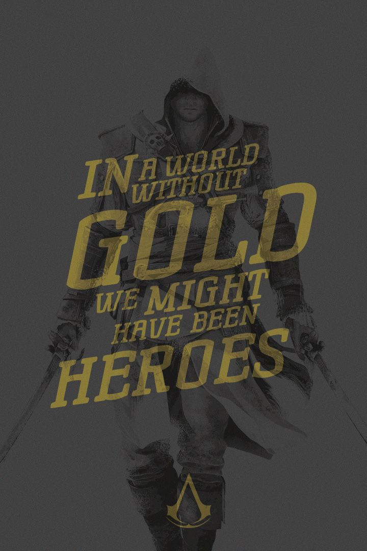 Assassin's Creed Quote Poster Edward by acTurul