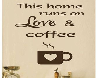 Starbucks Kitchen Wall Decal Popular Items For Coffee Decor Kitchen On Etsy Coffee Decor Kitchen Coffee Decor Kitchen Decor Themes Coffee