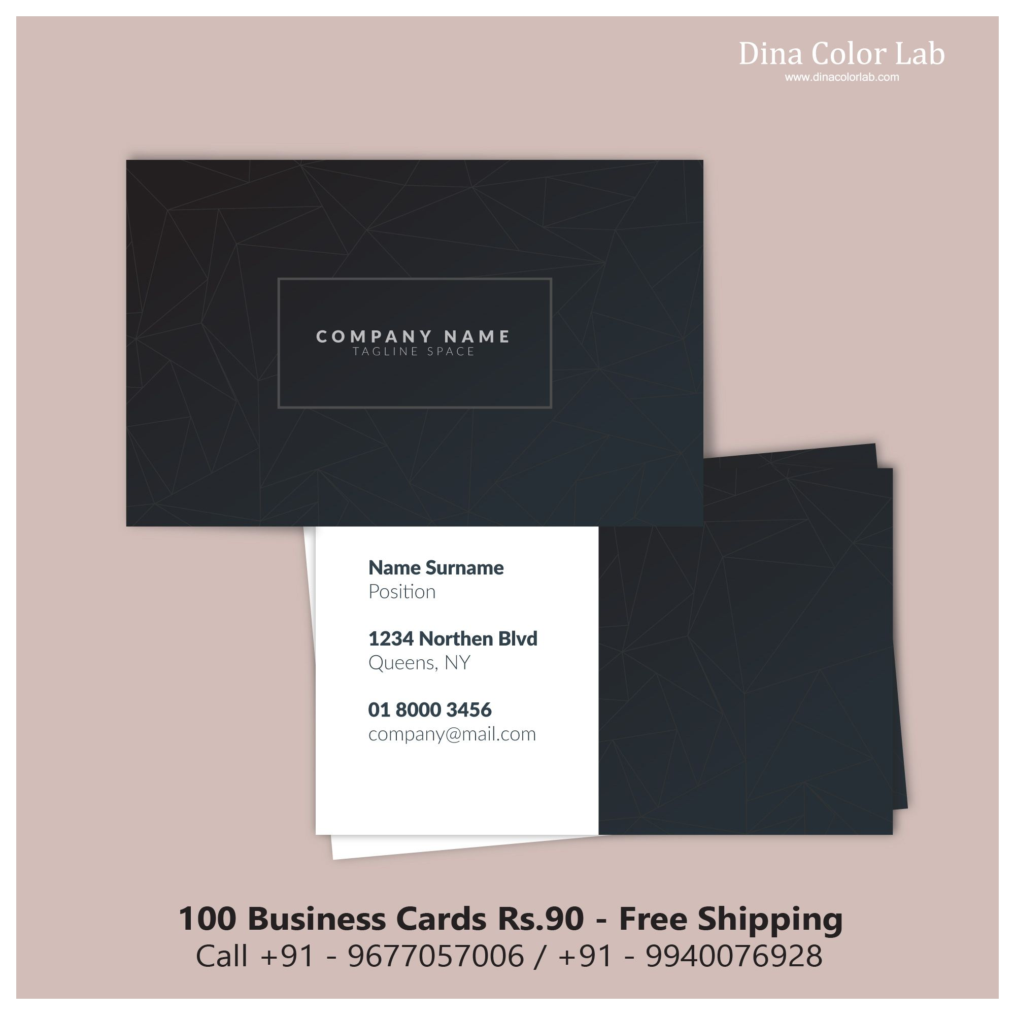 Online Design Of Visiting Card Not Only Is A Time Saving And
