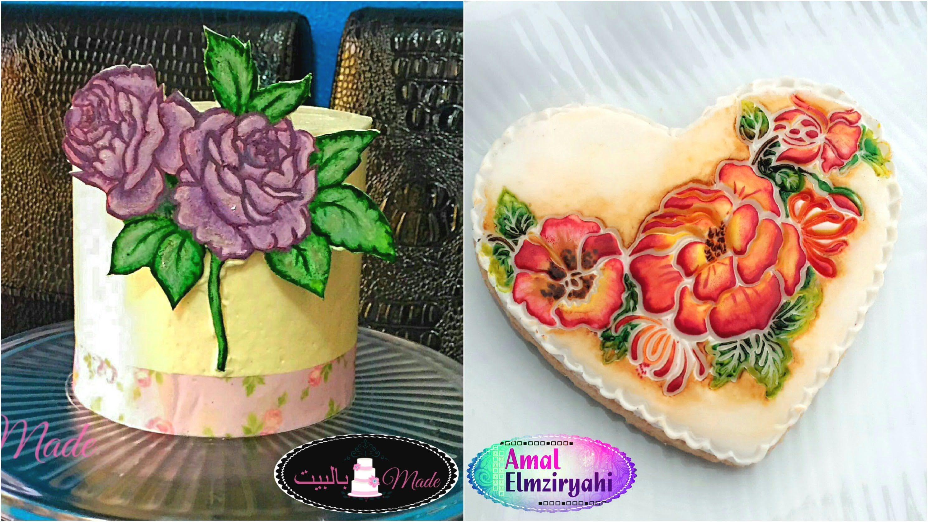 طريقة الرسم على عجينة السكر Cake Food Birthday Cake