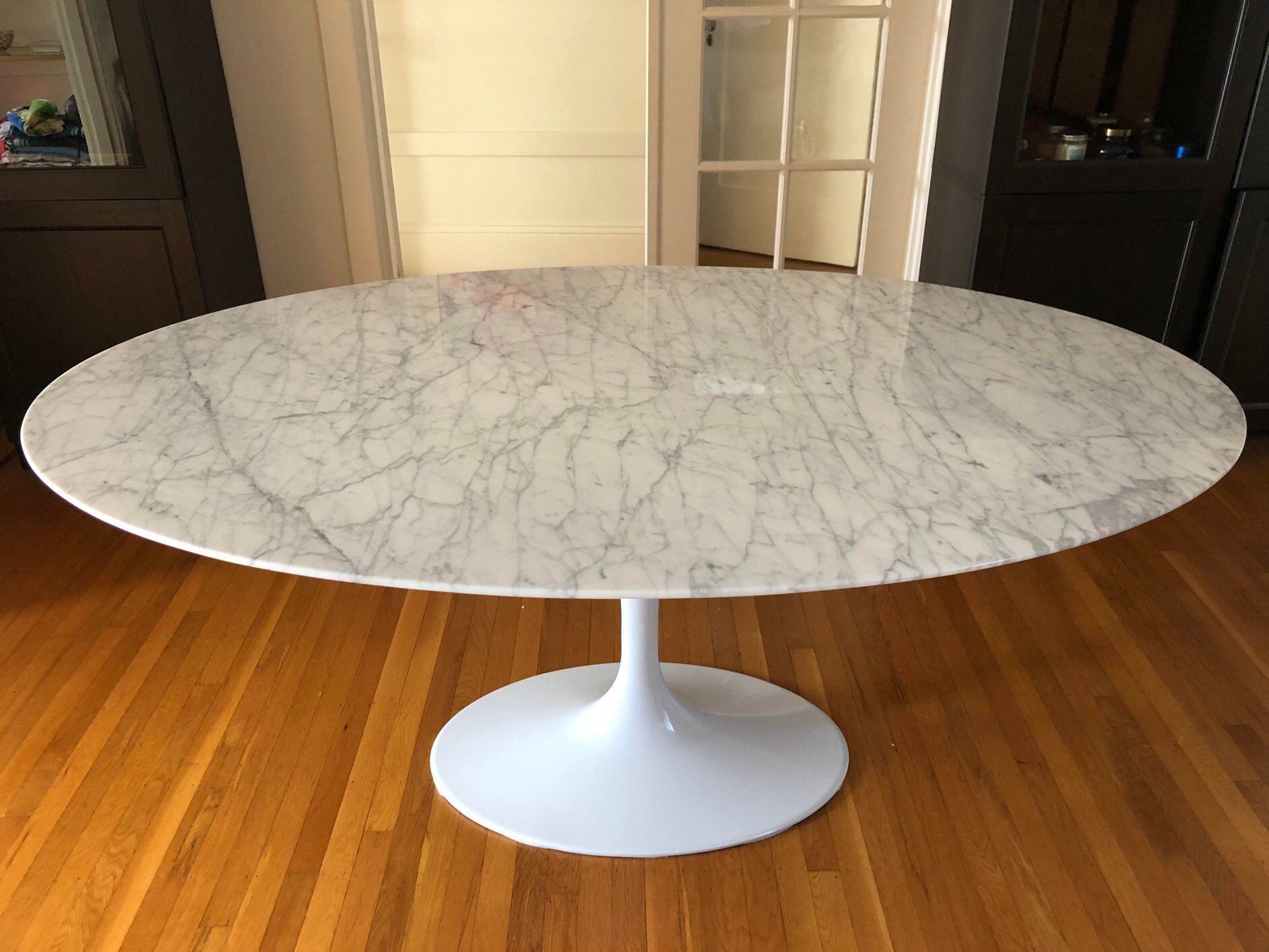 Replica Saarinen Oval Marble Dining Table On Chairish Com Oval