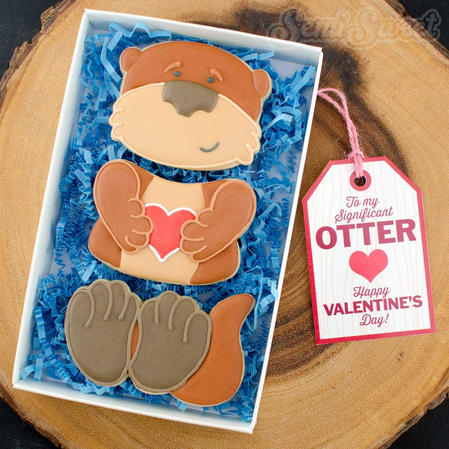 Otter cookie set with free printable gift tags otters and cookie otter cookie set with free printable gift tags negle Choice Image