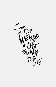Panic At The Disco Too Weird To Live Rare Die Wallpaper