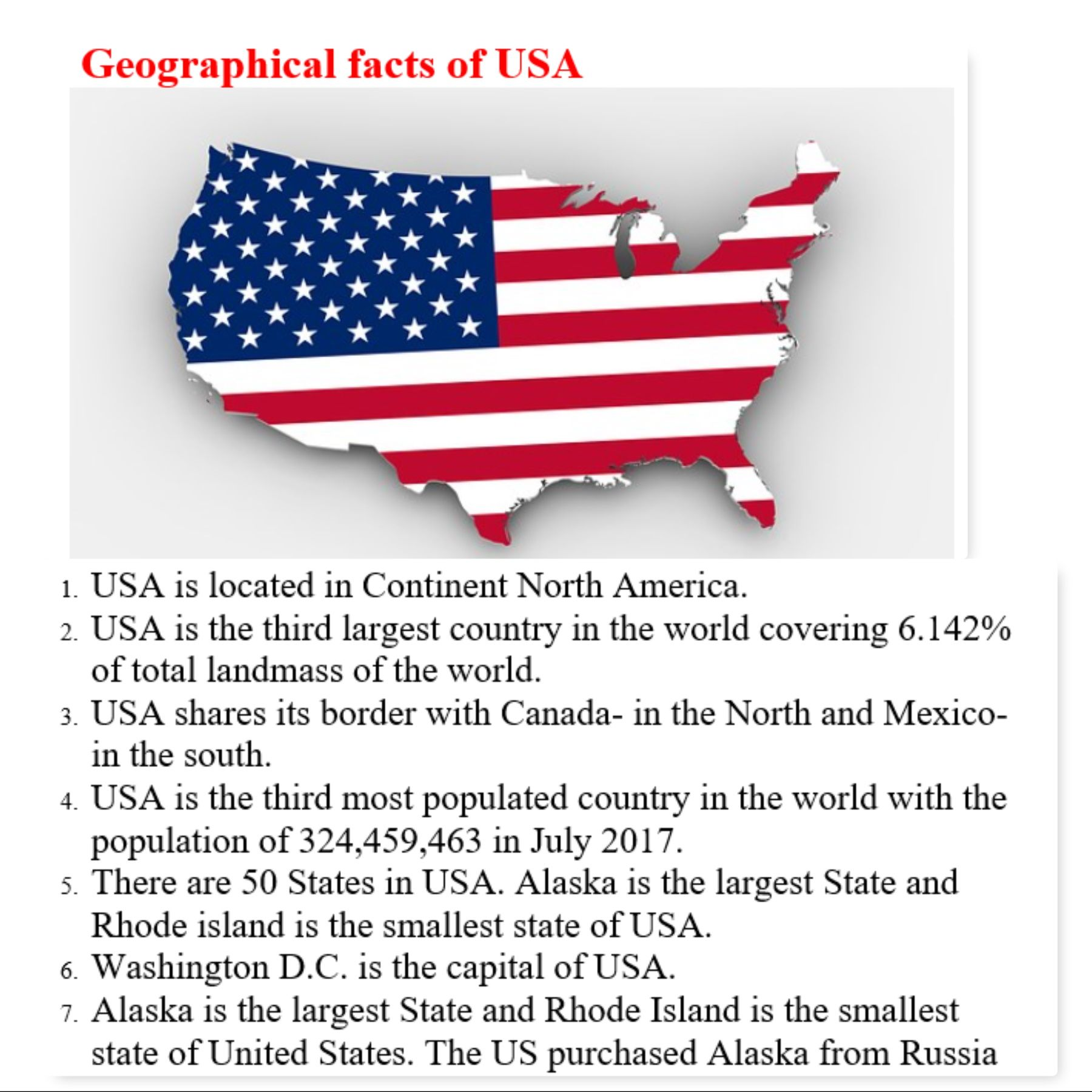 50 Interesting Facts About Usa