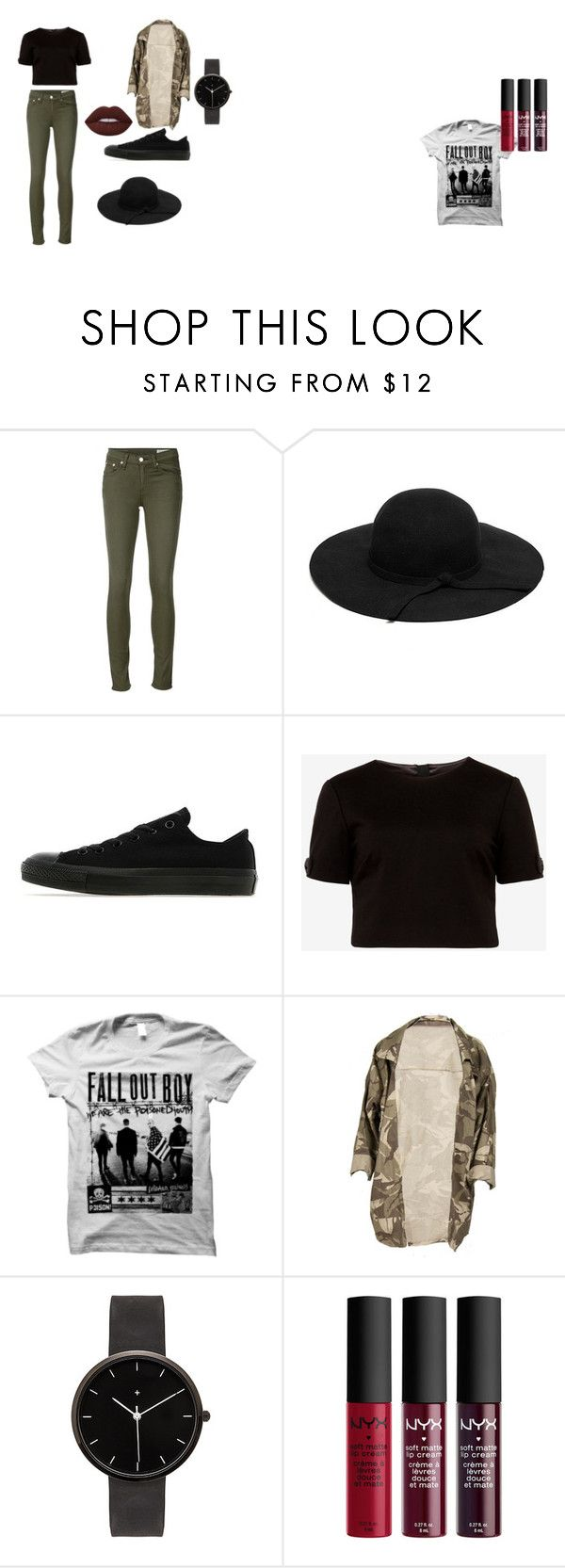 Black by sthefanie-larez on Polyvore featuring moda, Ted Baker, rag & bone/JEAN, Converse, I Love Ugly and Lime Crime