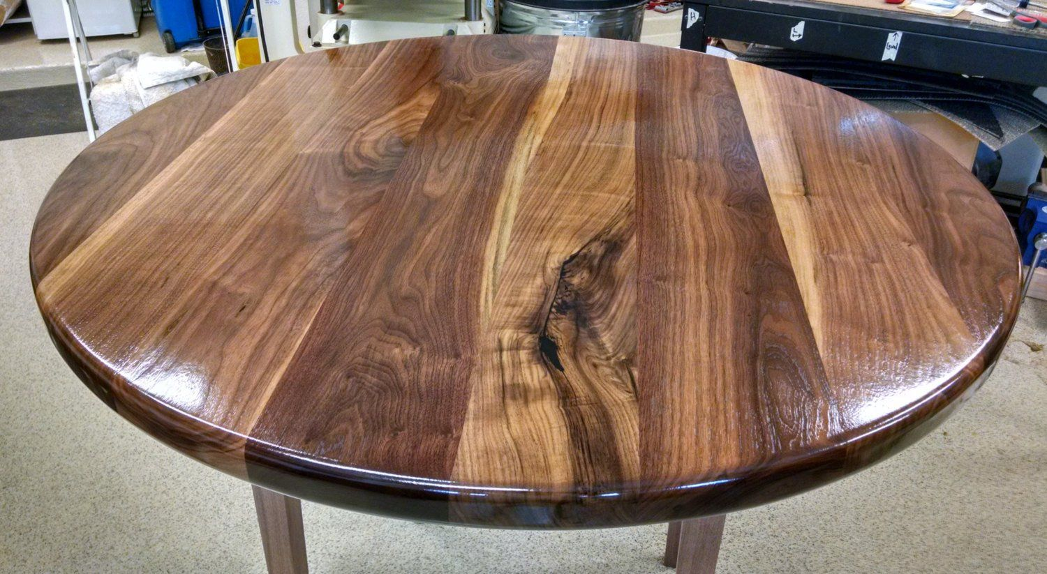 Round Walnut Table Top 364248 Solid Etsy Walnut Table Top Walnut Table Black Walnut Table