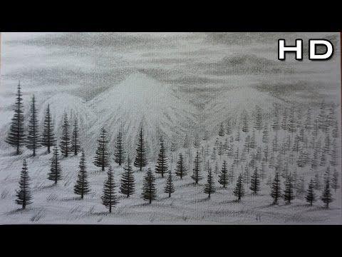 Como Dibujar Un Paisaje A Lapiz Paso A Paso Agua Arboles Pinos Y Montanas Youtube Paisaje A Lapiz Paisajes Dibujos Montanas Dibujo