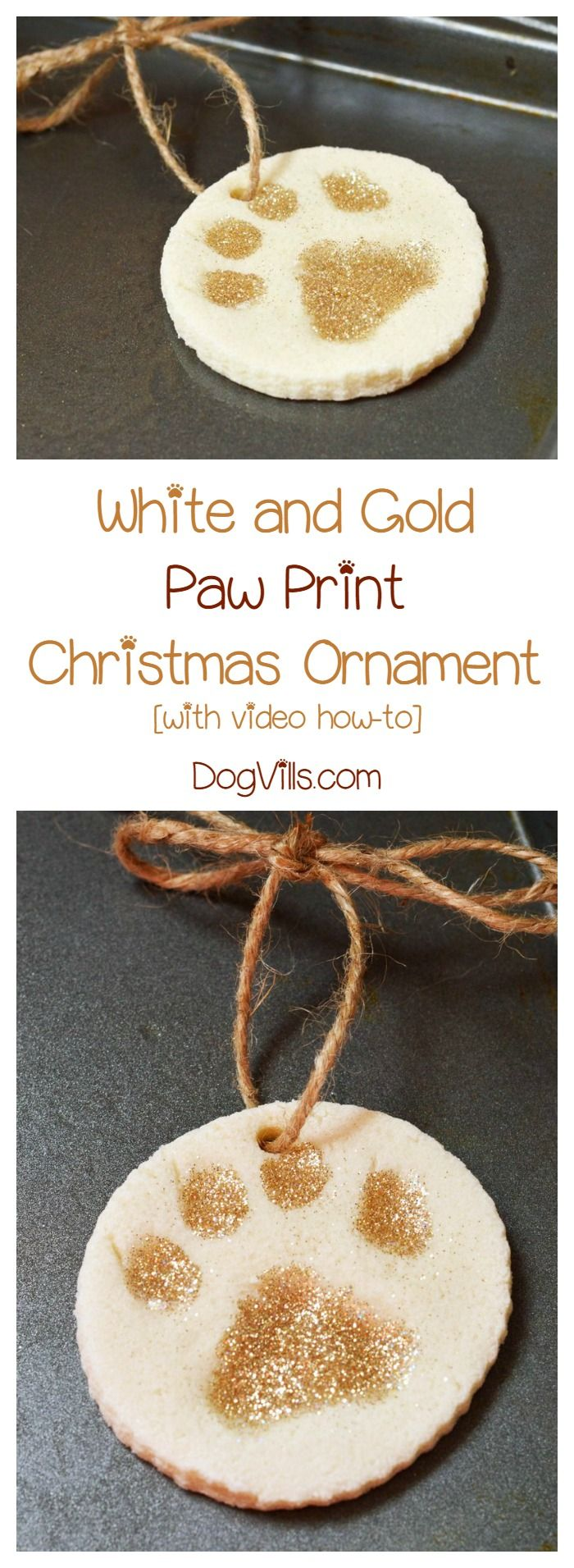 Turn Your Dogsu0027 Paws Into Cute Christmas Decorations With Our Paw Print  Christmas Craft! Makes A Great Homemade Gift Idea Too!