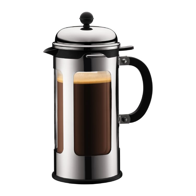 chambord french press coffee maker double wall 8 cup 1 0 l 34 oz s s shiny kitchen. Black Bedroom Furniture Sets. Home Design Ideas