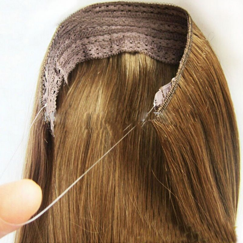 Hidden Invisible Wire In Weft Remy 100 Human Hair Extensions No