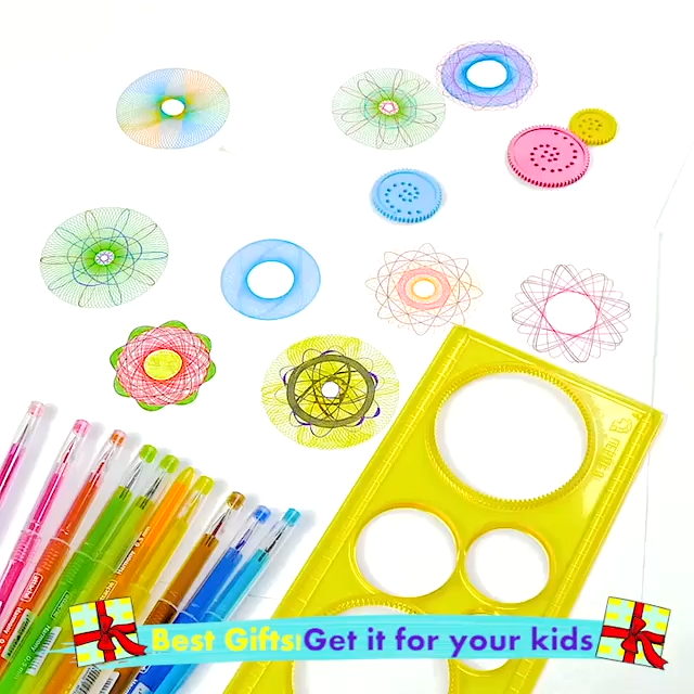 Get ready for hours of fun with the Spirograph Design Tin Set, a must-have for young and old alike With