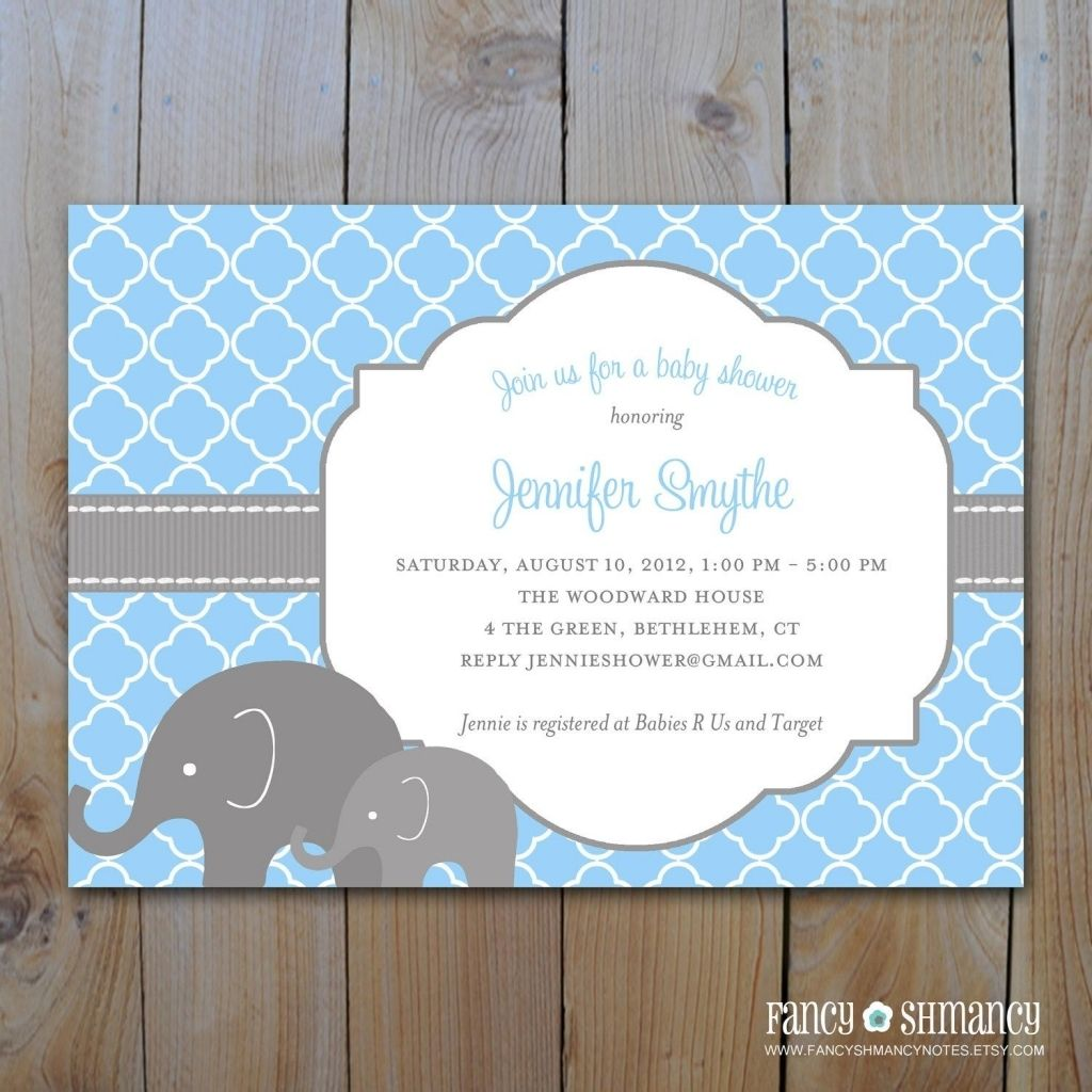 Exclusive Baby Shower Invitation Wording Elephant Theme In