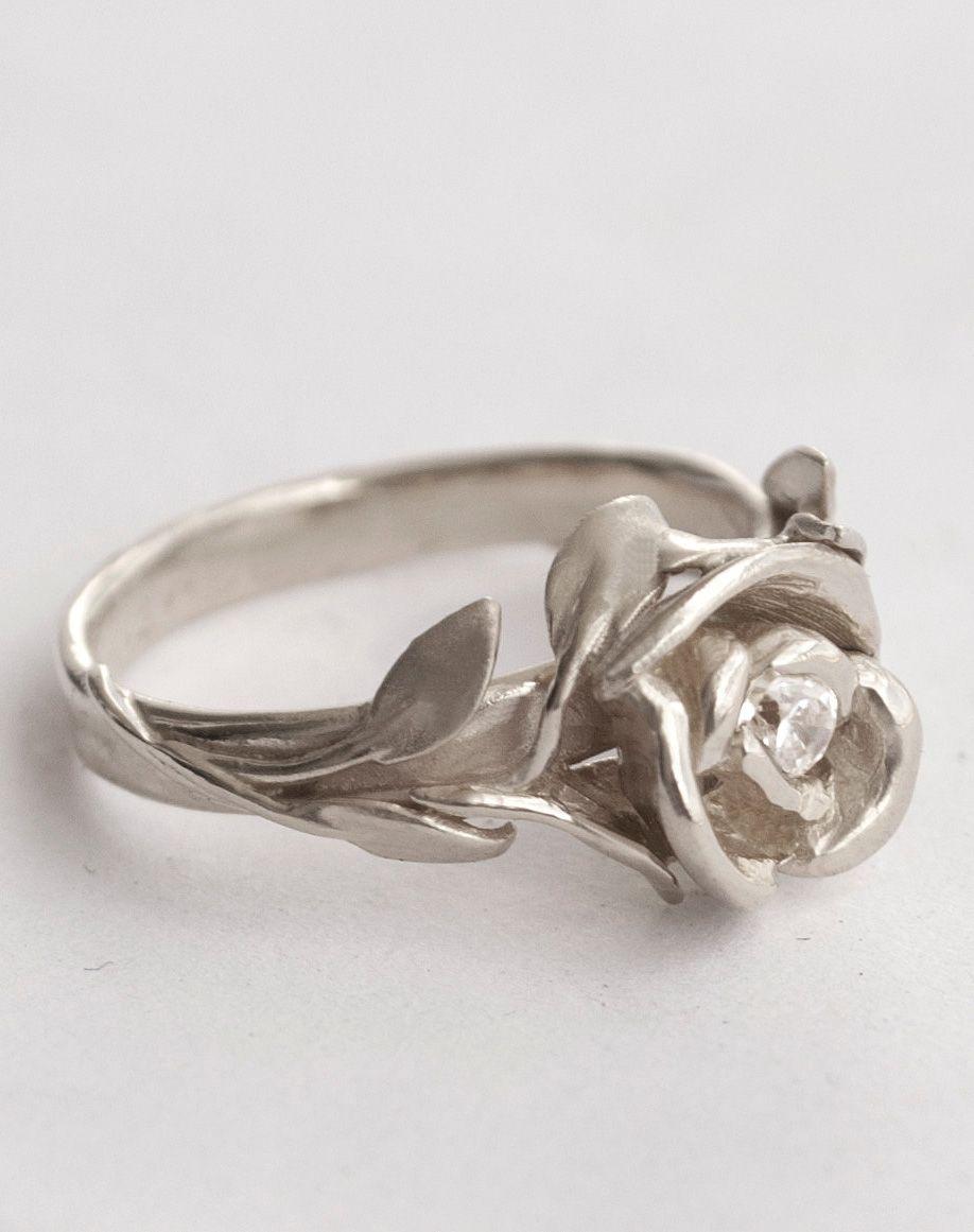 Rose Engagement Ring No 1 Rose Gold Engagement Ring
