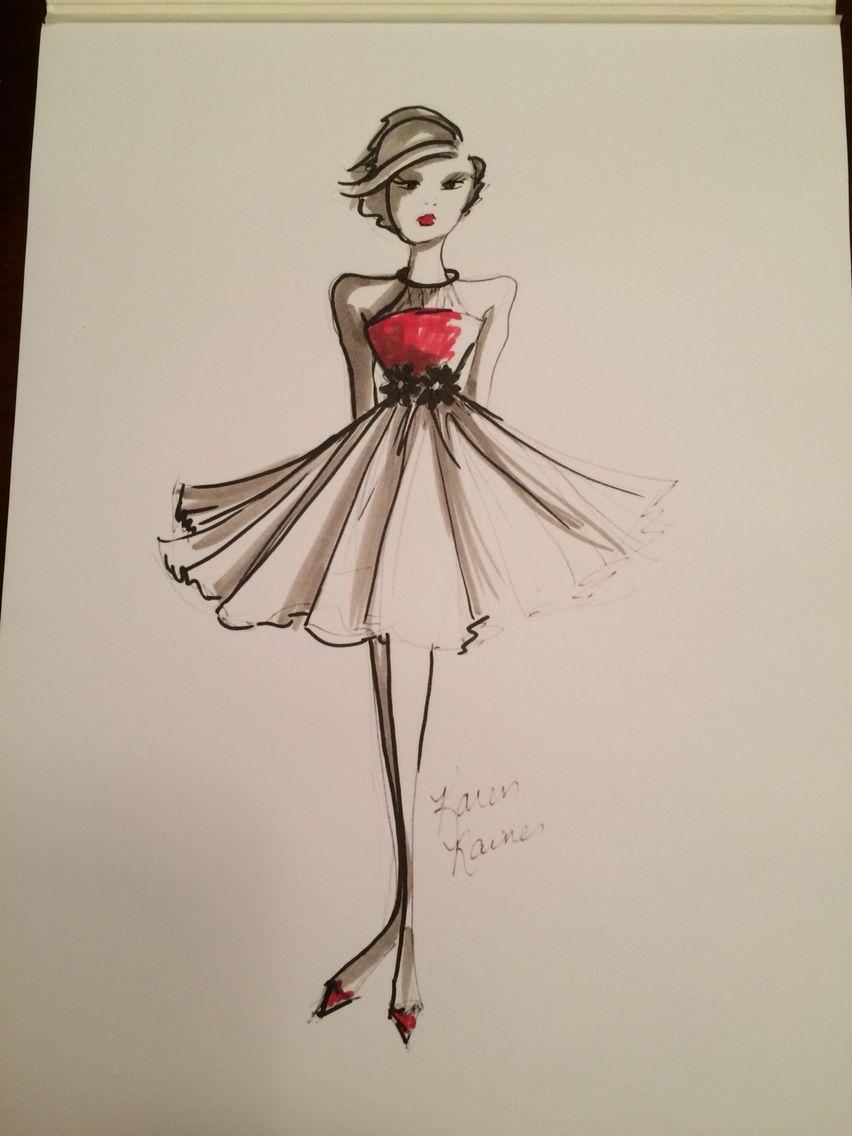 Short Dress Drawing : short, dress, drawing, Fashion, Short, Dress, Drawing