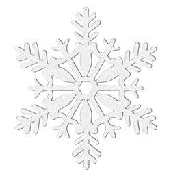Závesná dekorácia biele snehové vločky - 10 cm - 4 ks/bal