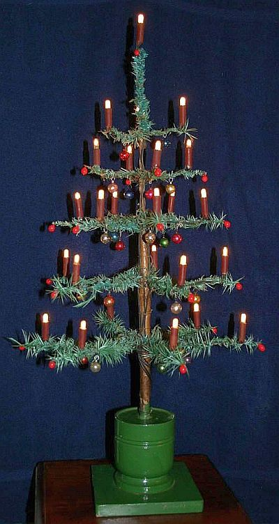 Ralph Morris Original 1908 Electric Wired Candles On Goose Feather Tree Vintage Christmas Tree Christmas Tree Christmas Candles