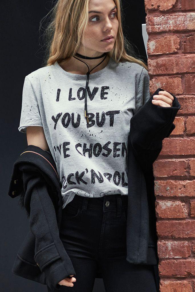 db99b2356 Camiseta Estampa Rock - Comprar em SHOP COLCCI | Style Inspirations ...