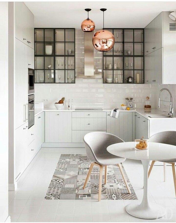 Cocinas blancas de estilo rústico. Calidez y confort. | Decoracion ...