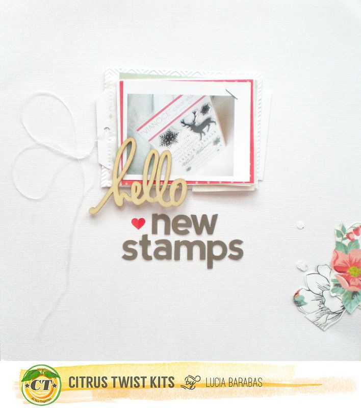 #papercraft #scrapbook #layout. hello-new-stamps