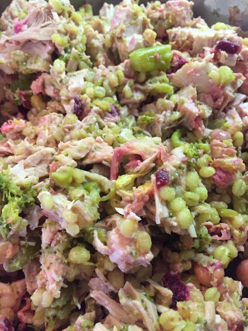 Spring is coming beet barley & broccoli mash up