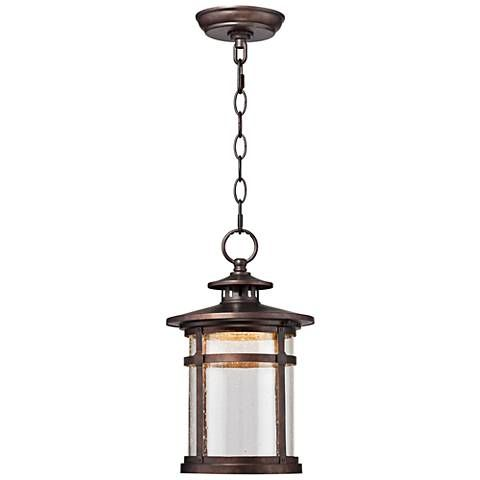 Callaway 13 1 2 High Bronze Led Outdoor Hanging Light 1f980