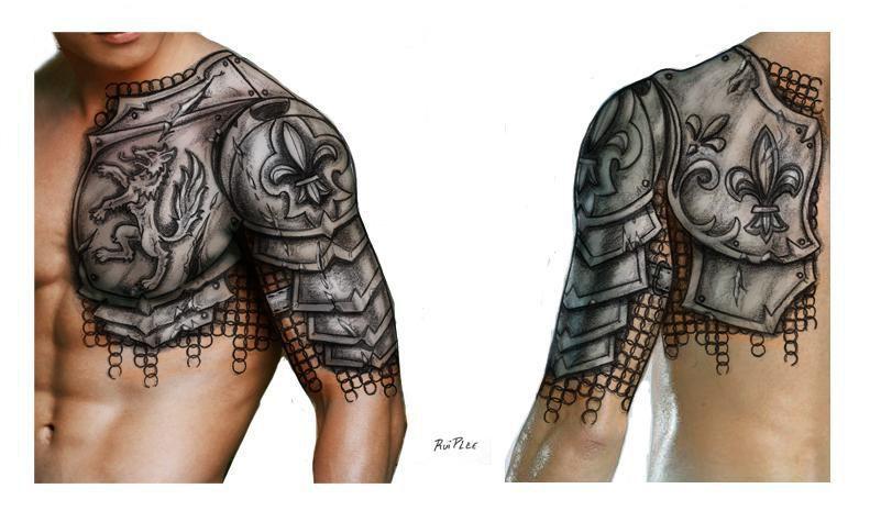 Armour Armor Tattoo Shoulder Armor Tattoo Armour Tattoo