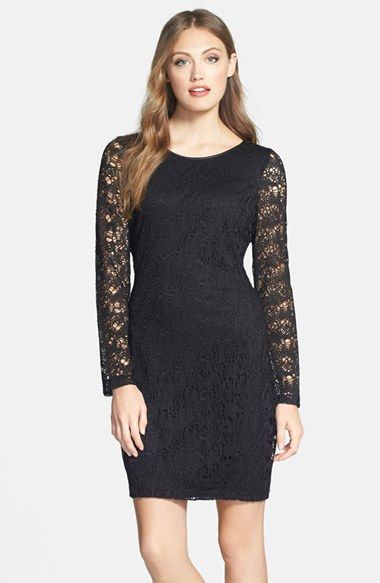 Marc New York by Andrew Marc Lace Shift Dress available at #Nordstrom