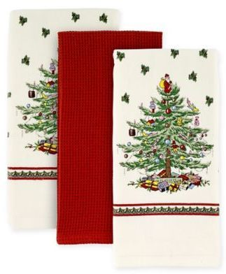 Spode® Christmas Tree by Avanti Kitchen Towels (Set of 3