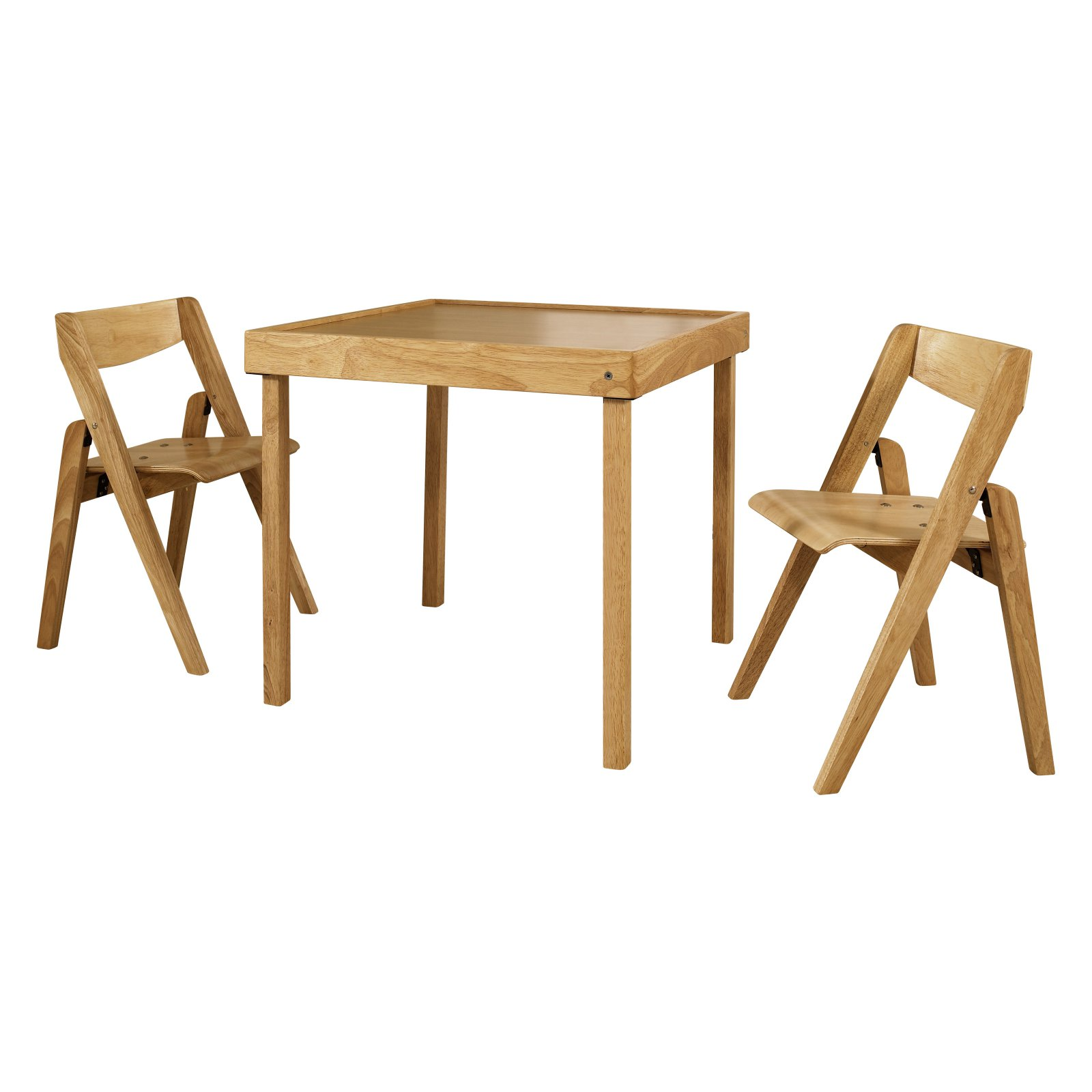 Stakmore Juvenile Folding 3 Piece Table And Chair Set Kids Table