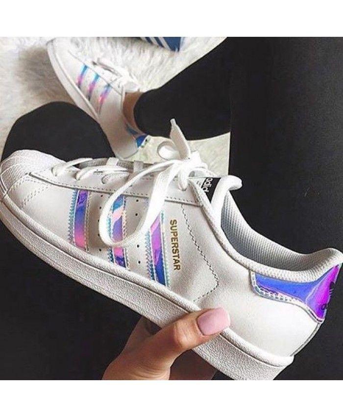 adidas superstar iridescent white