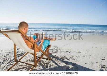Tony likes to read on the beach too ;)