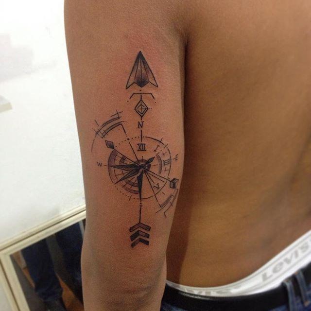 Resultado De Imagen Para Tatuaje De Brujula Pequena Tinta Para Tatuaje Rosa De Los Vientos Tatuajes Para Hombres