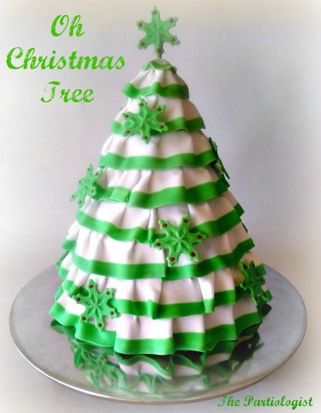 The Partiologist Christmas Tree Cake Christmas Tree Cake Christmas Cake Holiday Cakes