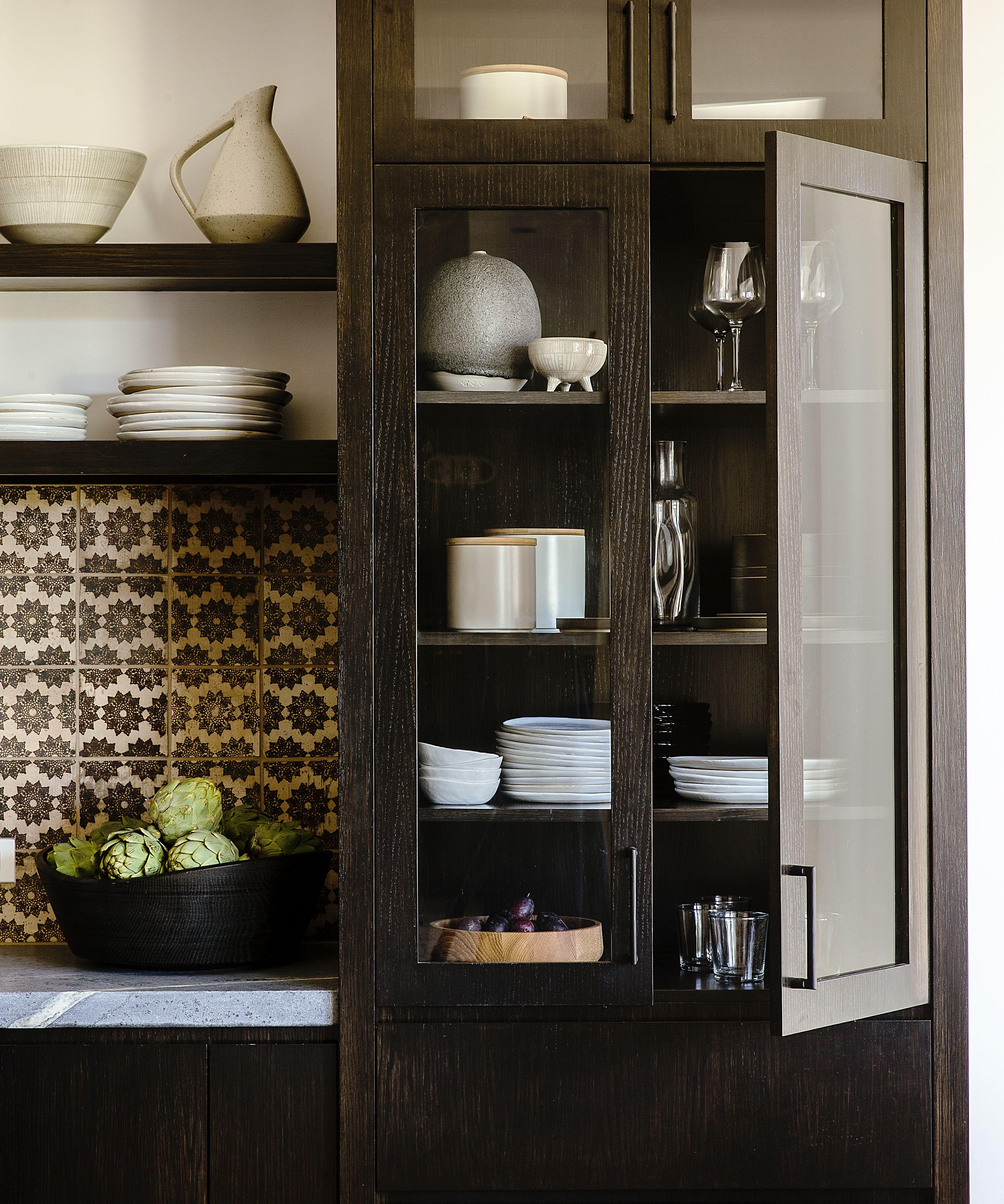 A Modern Kitchen With Bohemian Tile