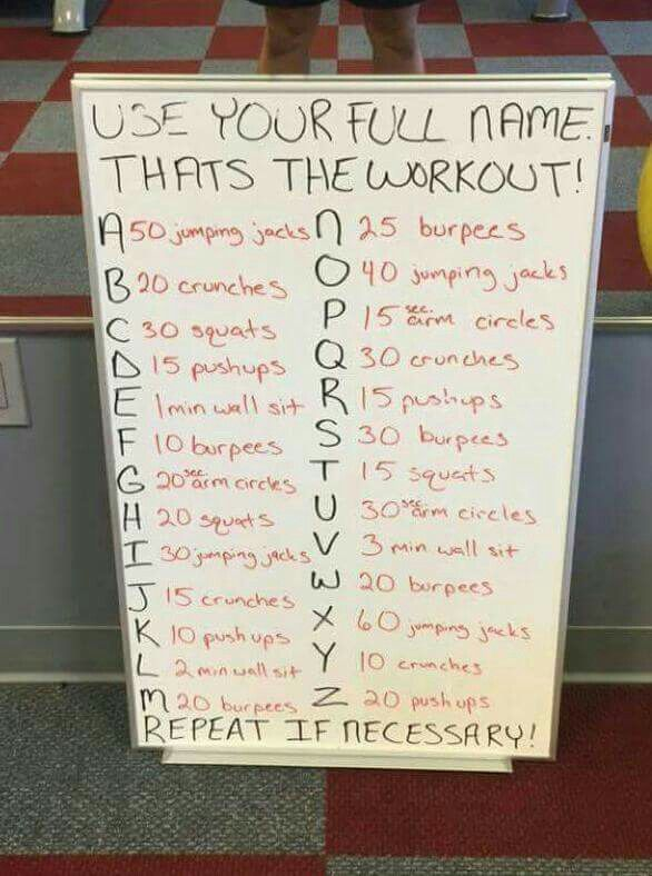 Full Name Work Out Workout Challenge At Home Workouts Workout