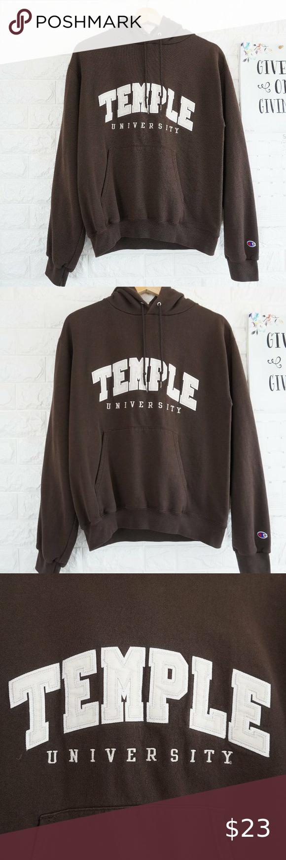 Champion Temple University Sweatshirt Hoodie Sz S Sweatshirts Sweatshirts Hoodie University Sweatshirts [ 1740 x 580 Pixel ]