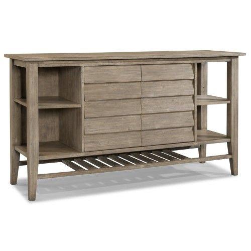 Corliss Landing Wood Two Door Sideboard Server In Weathered Driftwood Grey By Cresent Fine Furniture Furniture Dining Furniture Fine Furniture