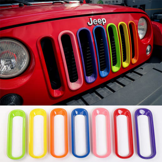 Online Shop Newest 7 Color Green Yellow Orange Blue Pink Red Purple Grille Grill Insert Rainbow For Jeep Wr Purple Jeep Purple Jeep Wrangler Pink Jeep Wrangler