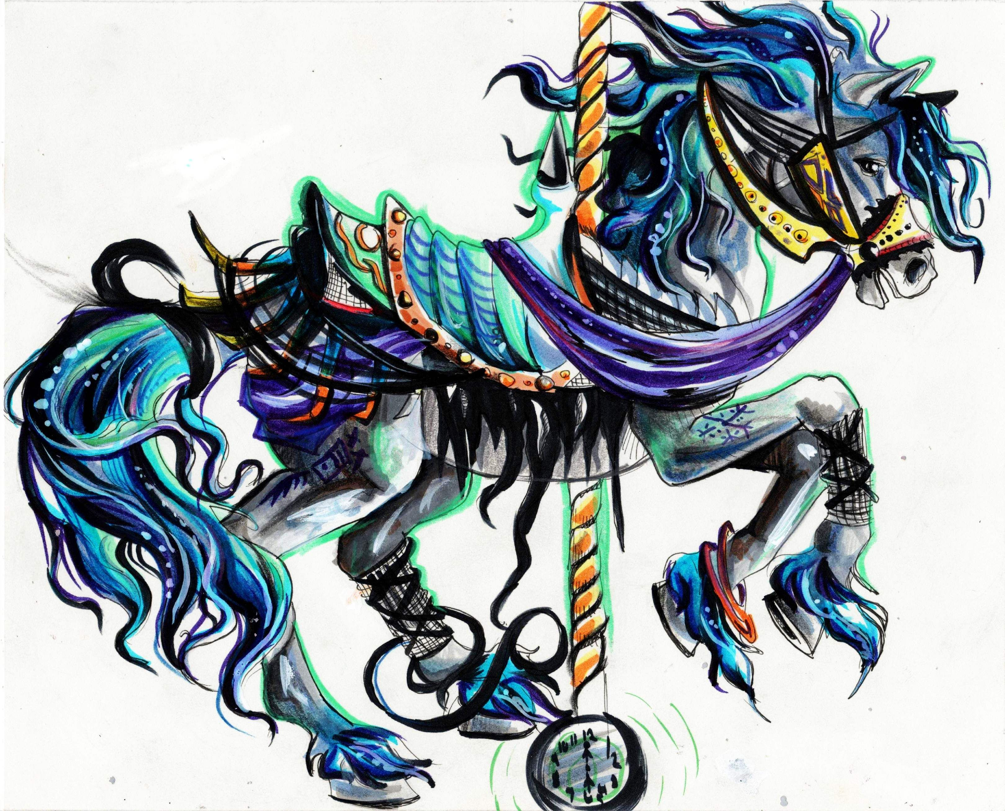 Carousel Horse Carousel Horse Tattoos Horse Tattoo Carosel Horse