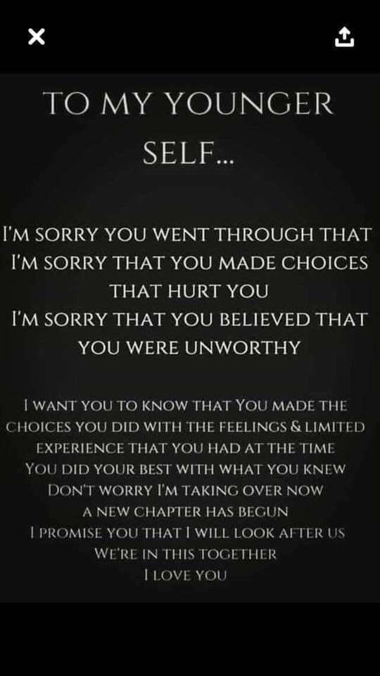 To my younger self...I'm sorry you went through that.  #SweetSerendipity #Goals #SelfMade #BossBabe #GoalGetter #PersonalGrowth #SelfLove #Serendipity #Love #Happiness #Marriage #Wife #Husband #Family #HouseWife #Motherhood #SuperMoms #MommyChronicles #BasicMom #MichiganMom #Michigan #MomBlogger #DetroitMom #MomOfBoys #BoyMom #MomLife #ThisIsMotherhood #Photographer #Photography #DoYourBest #MadeForMore #Fashion #youngerself