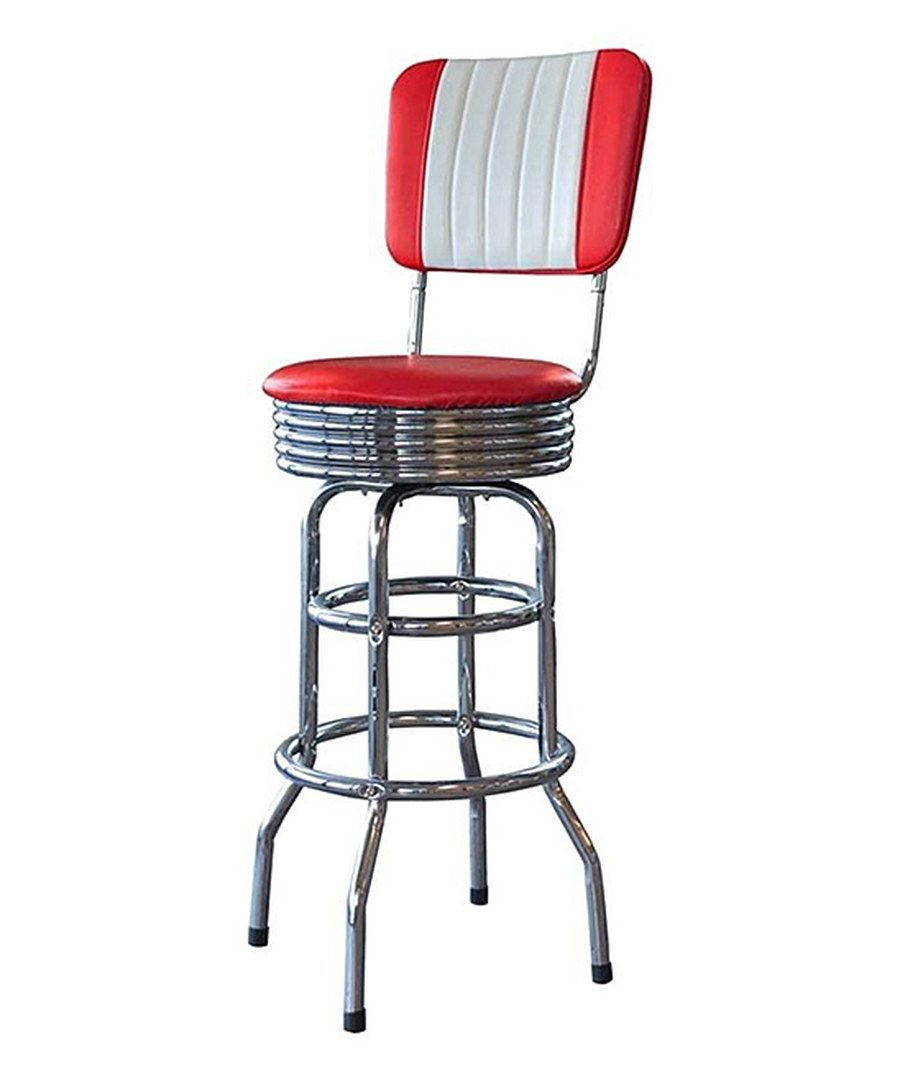 Red Retro Diner Bar Stool Set Of Two Retro Bar Stools Bar