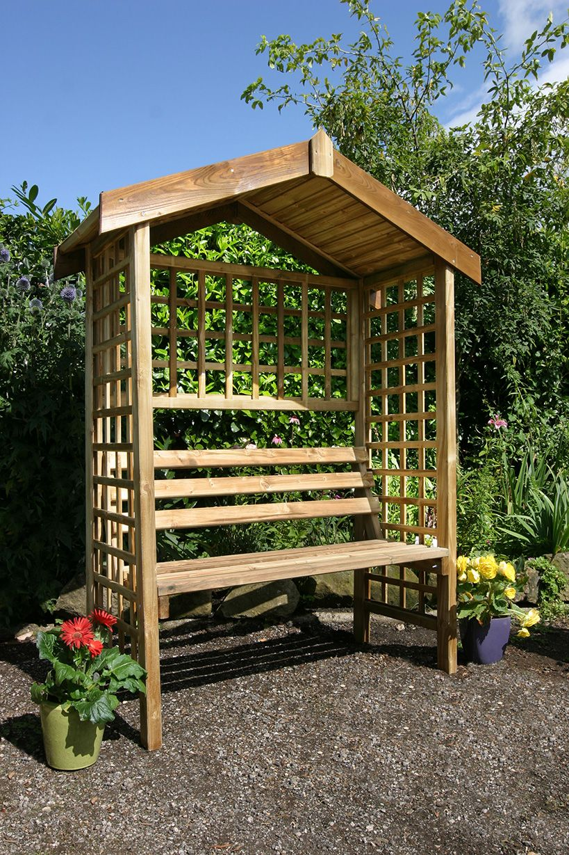 Suffolk Arbour Garden Seating Pergola Wooden Garden Seats