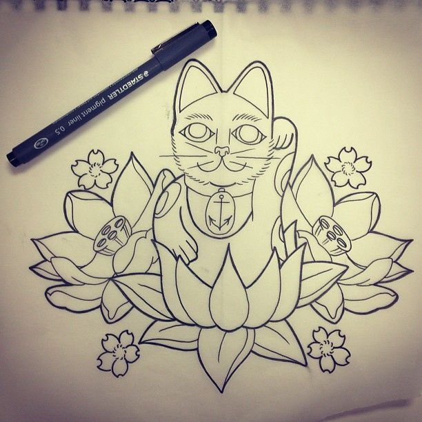 Lucky Cats Maneki Neko Tattoos Lucky Cat Tattoo Lucky Cat Maneki Neko