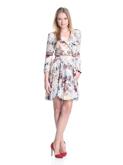 Cacharel Women's Printed Dress with Belt