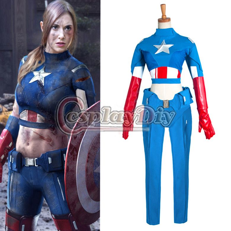 Free shipping Custom made America Capital Movie The Advengers cosplay  costume for women tight cloth d473fc3097