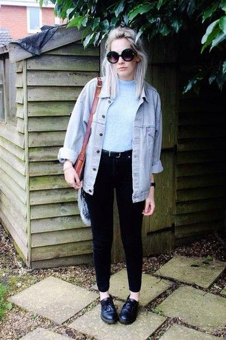 jacket grunge denim hipster tumblr summer soft grunge blue black white shoes top